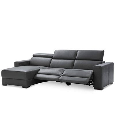 3 pc leather sectional sofa nevio 3 pc leather sectional sofa with chaise 2 power