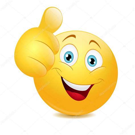 imagenes thumb up emoticon mostrando el pulgar para arriba vector de stock