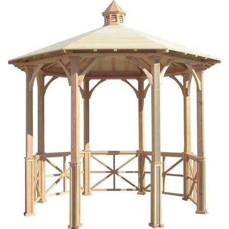 Gazebo Cupola samsgazebos 10 ft octagon cottage garden gazebo with cupola adjustable for uneven