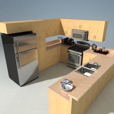 3d model kitchen set 3d kitchen set model