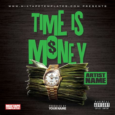 design cover art free online time is money mixtape cover template by