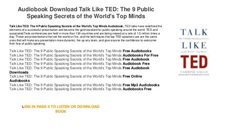 1447261135 talk like ted the public audiobook download android mp3 talk like ted the 9 public