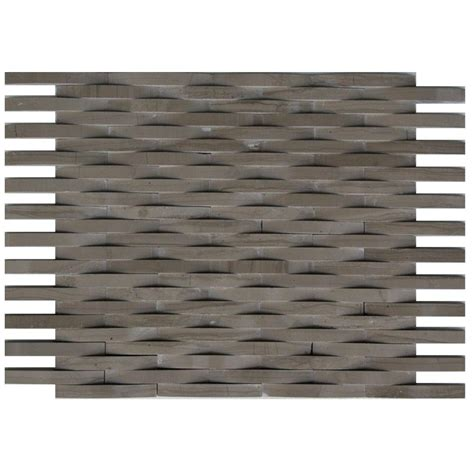 splashback tile 3d reflex athens grey 9 in x 11 5 in x 8