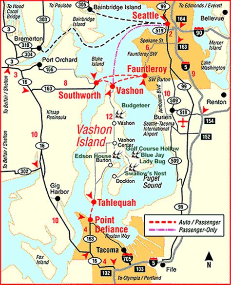 seattle map ferry wa state ferry route map