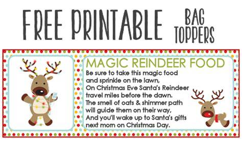 magic reindeer food poem template magic reindeer food recipe and printable treat bag toppers
