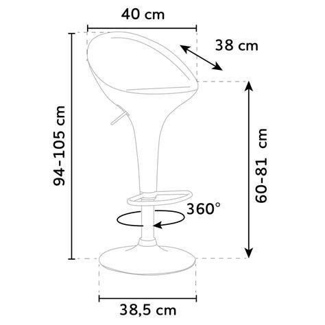 Dimensioni Sgabello Bar by Sgabello Girevole Dal Design Moderno Per Bar Cucina