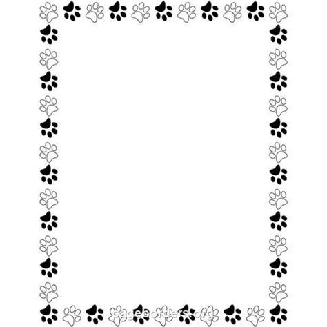 Paw Print Page Border Clip by Paw Print Clip Border 101 Clip