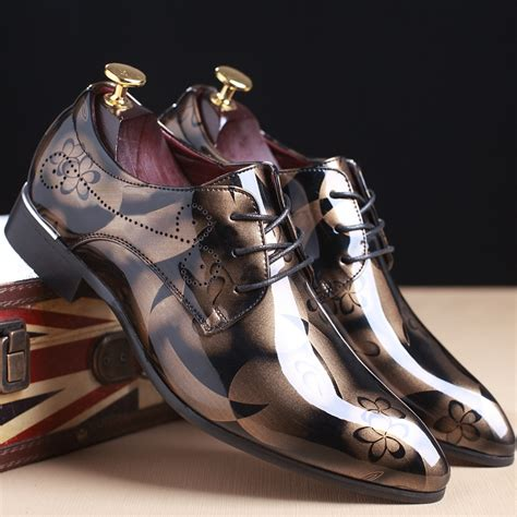 luxury shoes 2017 dress wedding shoes shadow patent leather luxury
