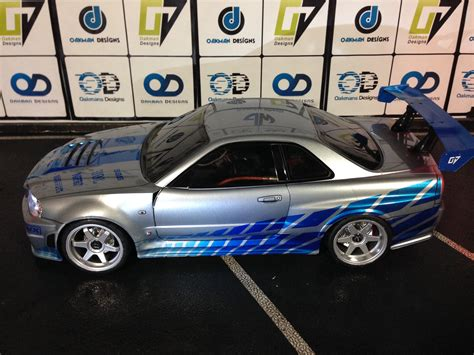 nissan r34 paul walker tamiya 190mm nissan skyline r34 paul walker edition oak