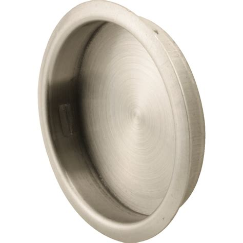 Closet Door Pull Shop Prime Line 1 75 In Plated Satin Nickel Sliding Closet Door Pull At Lowes