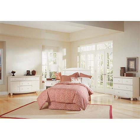 sauder harbor view bedroom set sauder harbor view 4 piece bedroom set antiqued white