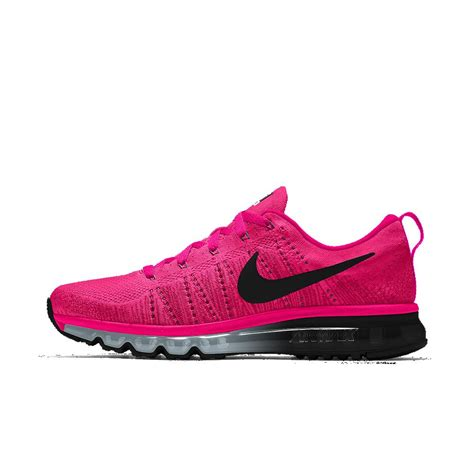 nike flyknit air max id s running shoe in pink lyst