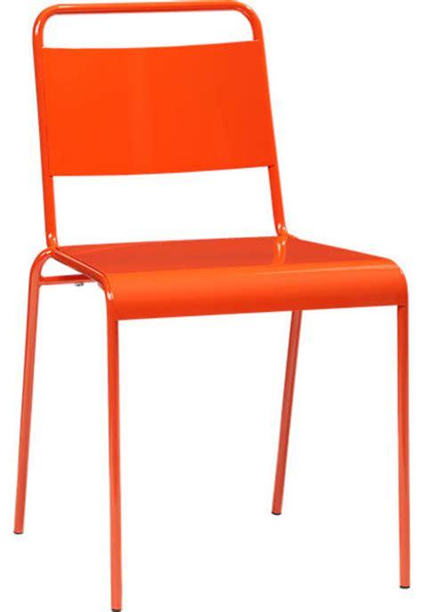 lucinda orange stacking chair modern outdoor lounge