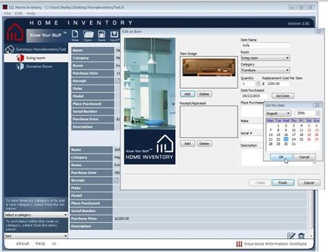 free home inventory software ezasset for home