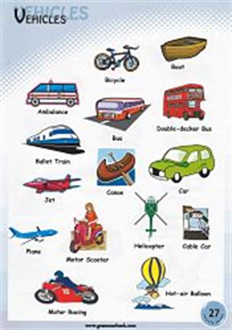 catamaran meaning with sentence vehicle names transportation vocabulary