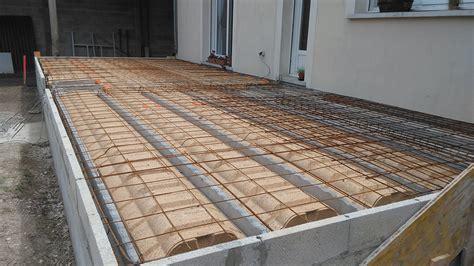 Terrasse Sur Vide Sanitaire En Bton Arm Avec 2 Escaliers Devis Terrasse En Beton