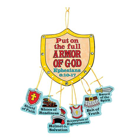 7 best images of free printable vbs crafts free color your own armor of god mobile craft kit