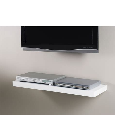 floating media shelves white floating shelf kit 900x300x50mm mastershelf