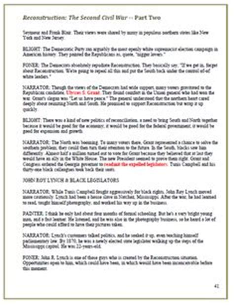Reconstruction After The Civil War Worksheets by Reconstruction Worksheets Worksheets Tutsstar Thousands