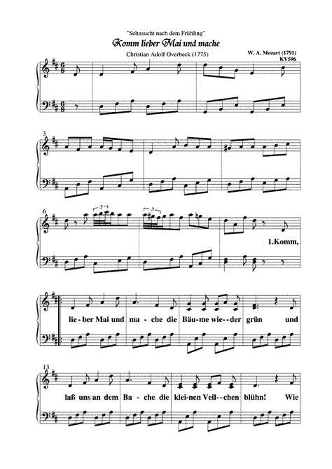 Sehnsucht nach dem Frühling, K.596 (Mozart, Wolfgang