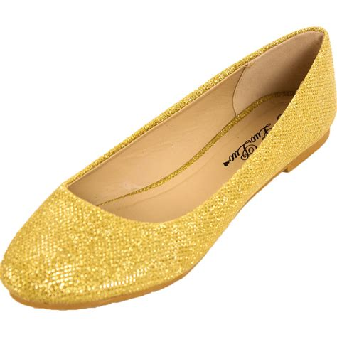 sparkle flat shoes new womens glitter ballet flats slip on shoes sparkle