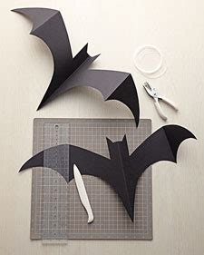 How To Make Bats Out Of Paper - deck the s diy hanging and flying bats for some