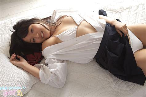 in bed mayumi yamanaka japanese cute idol in sexy schoolgirl