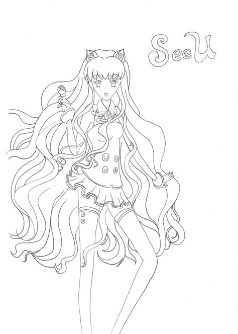vocaloid coloring pages vocaloid luka free coloring pages