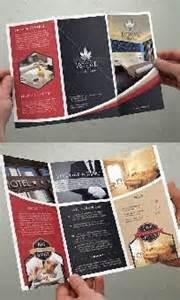 psd contoh brosur trifold untuk hotel dan resort