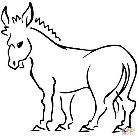 free coloring page donkey donkey coloring page free printable coloring pages