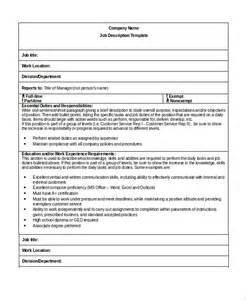 descriptions template sle description template 32 free documents