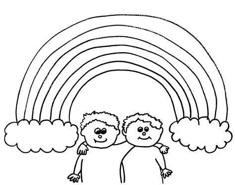 a rainbow to colour in coloring pages