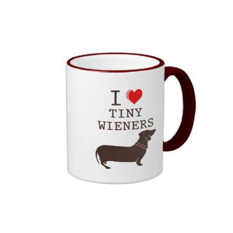 funny coffee mugs funny i love tiny wiener dachshund coffee mugs zazzle