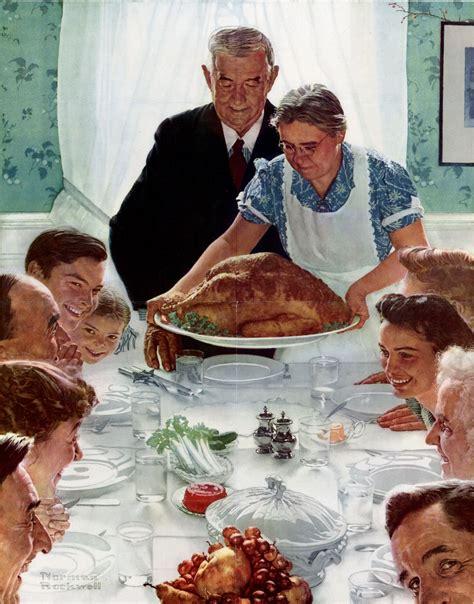 norman rockwell dinner table paintings family food tables thanksgiving norman rockwell