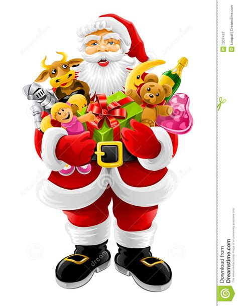 images of christmas papa vector christmas santa claus with gifts stock illustration