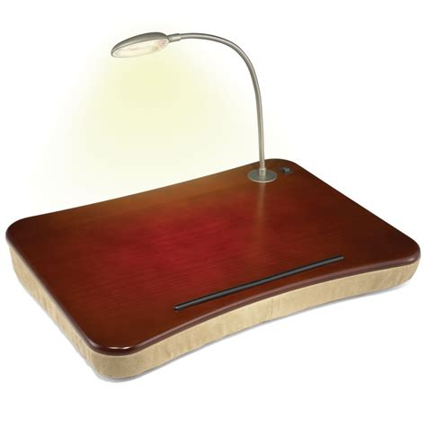 Laptop Desk With Light The Lighted Desk Hammacher Schlemmer