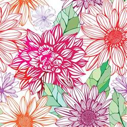 vivid flower patterns design elements vector 04 vector
