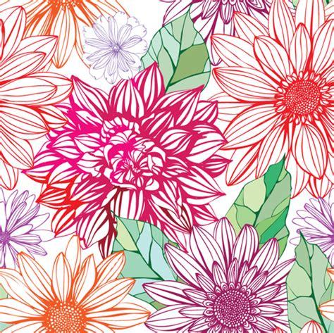 pattern for flower vivid flower patterns design elements vector 04 vector