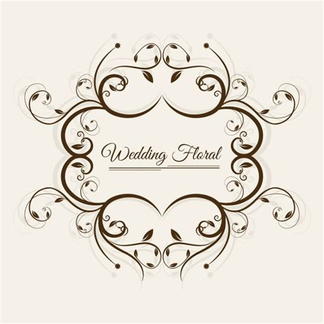 Wedding Vector Free by Wedding Floral Frame Vector Free