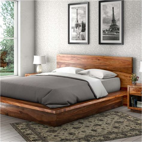 wood bed frame delaware solid wood platform bed frame