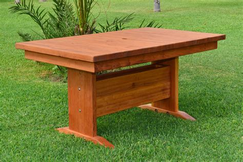 Redwood Dining Table Outdoor Redwood Dining Table Custom Made To Order Tables