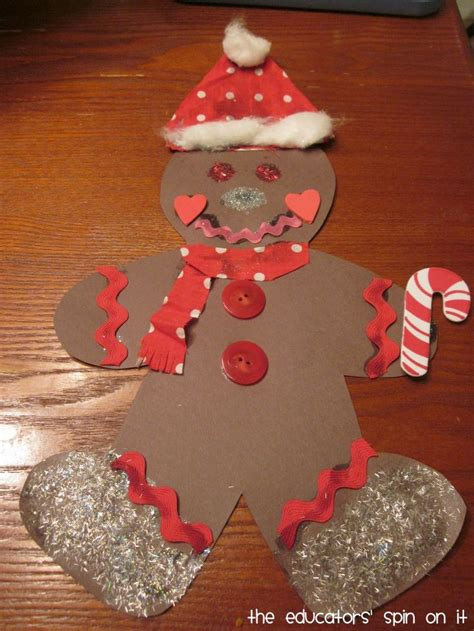 christmas decorations for toddlers with construction paper gingerbread crafts for crafts and worksheets for preschool toddler and kindergarten