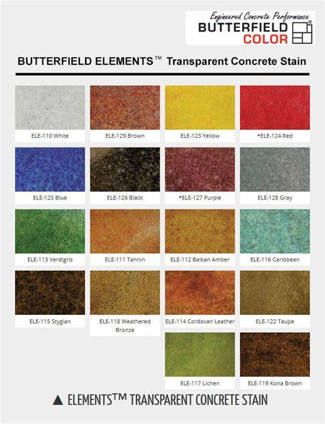 concrete acid stain color chart colored concrete colors butterfield elements transparent
