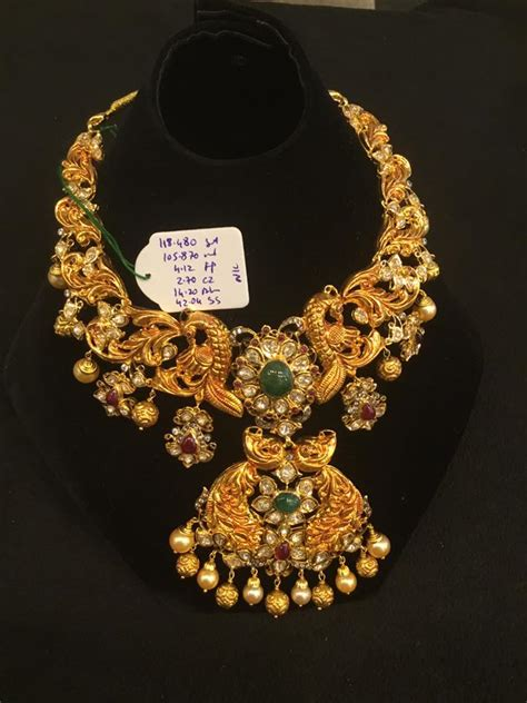 new pattern gold necklace uncut pachi necklace new pattern