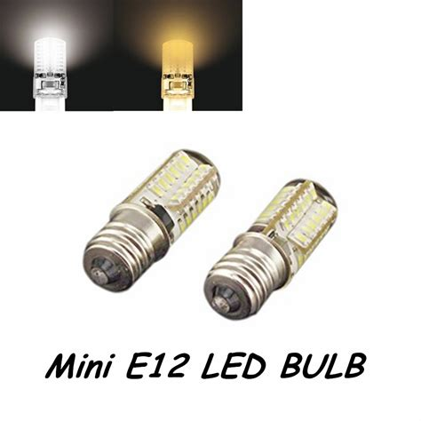 Miniature Led Light Bulbs 5pcs 110v 3w 3014 Smd Led Chips Mini E12 Led Light Bulb 110v Omnidirectional Candelabra Bulb E12
