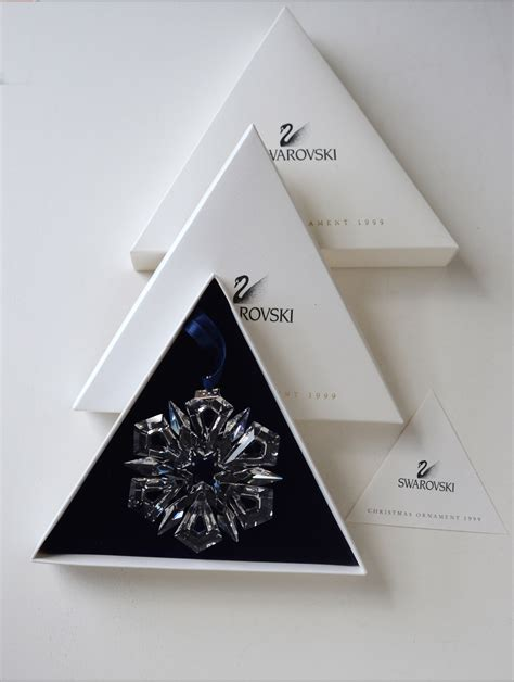 2007 swarovski crystal christmas snowflake star annual ornament swarovski 1999 snowflake annual ornament never displayed ornaments