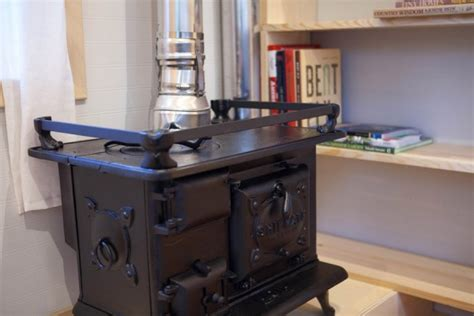 Tiny House Fireplace by Custom Designed Built Midwest Tiny House