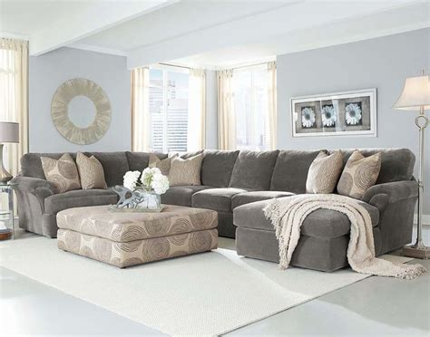 grey sectional with ottoman 25 best ideas about large sectional sofa on