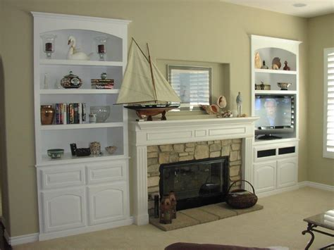 built  white entertainment center  cabinet