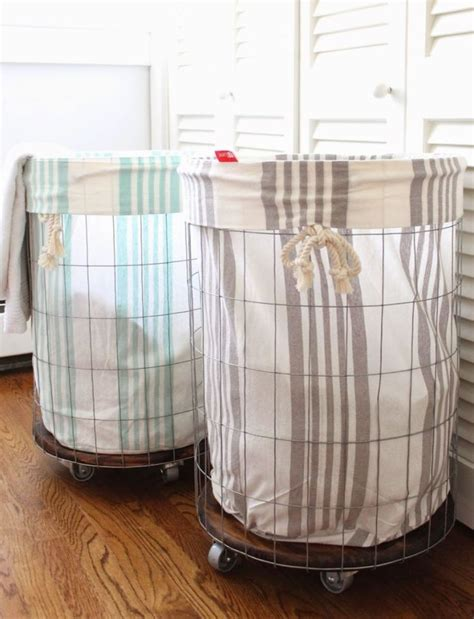1000 Ideas About Laundry Basket On Wheels On Pinterest Metal Laundry